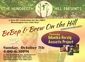 BeBop amp Brew A kick-off Celebration for the First Ever Bloomington Jazz Girls Day - Hosted by KRISTA DETOR