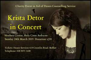An Evening with Krista Detor benefiting Daneo Counseling Service