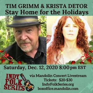 Krista Detor amp Tim Grimm  The Annual IndyFolk Holiday Show TICKETED LIVESTREAM