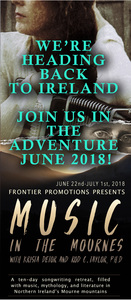 MUSIC IN THE MOURNES 10-DAY WRITING RETREAT with Krista Detor and Dr Rod C Taylor