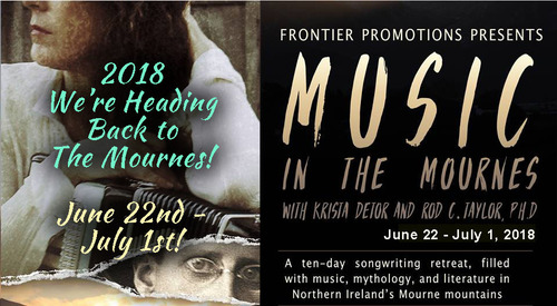 Krista Detor ANNOUNCES the second 039Music in the Mournes039  a 10day songwriting retreat in Northern Ireland in June 2019