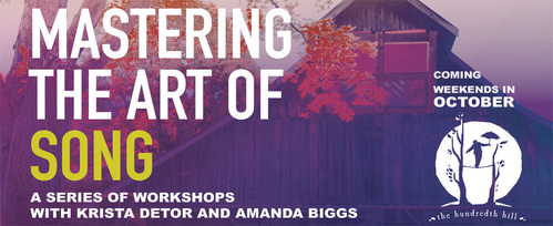 The Hundredth Hill Presents Art of the Song Master Class Series with Krista Detor amp Amanda Biggs