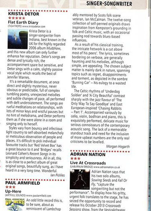 R2 Rock n Reel Magazine UK Gives Flat Earth Diary 5 Stars
